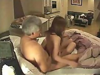 Hidden Cam Catches A Slutty Asian Teen Getting Fucked By An Old Man